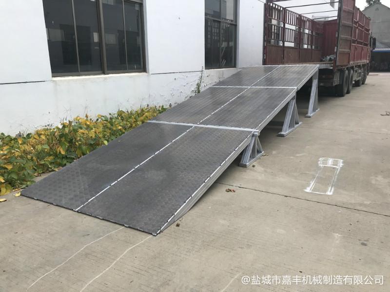 码头简易固定液压装卸平台安装